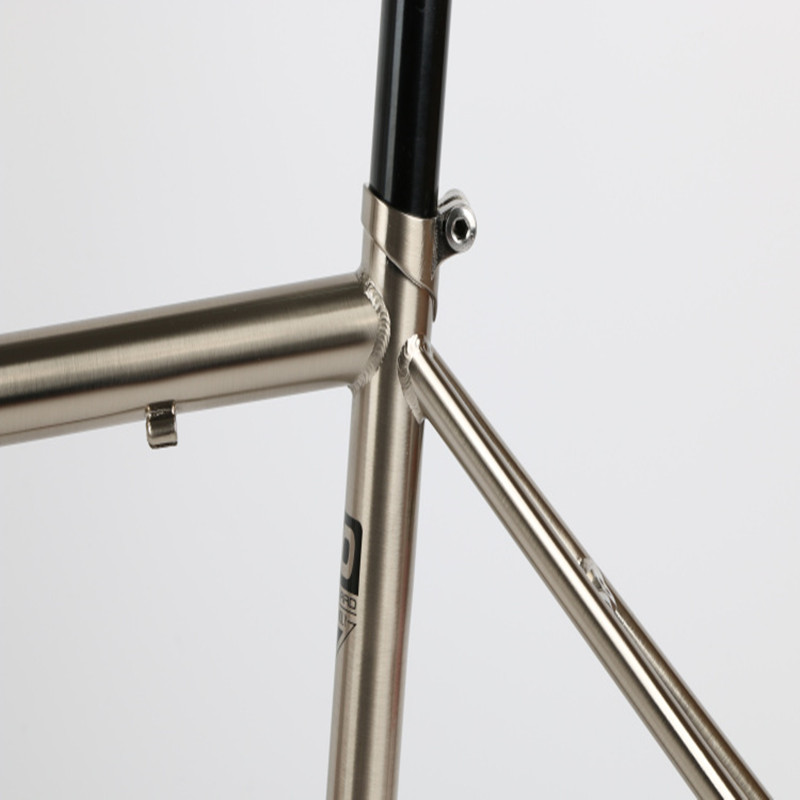 Cheap TSUNAMI 520 chrome-molybdenum steel Bicycle Frame Road Bike Frame + full carbon front Fork or steel Fork 3