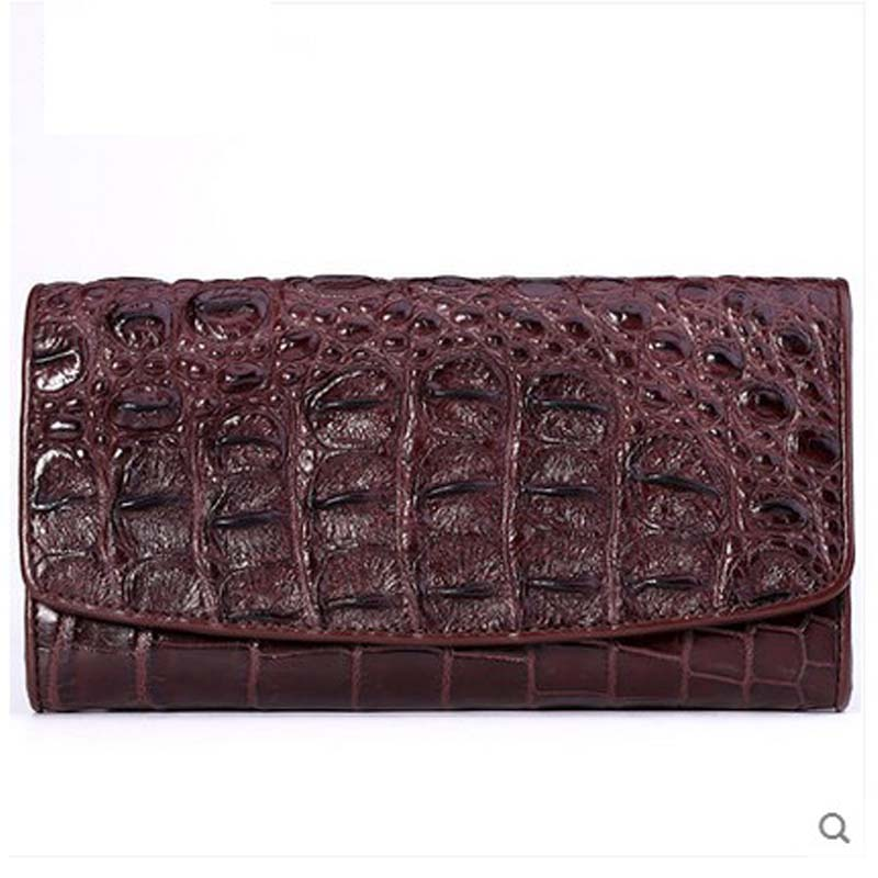 yongliang Explosion style new crocodile leather women wallet  leather wallet, fashionable long women clutch bag
