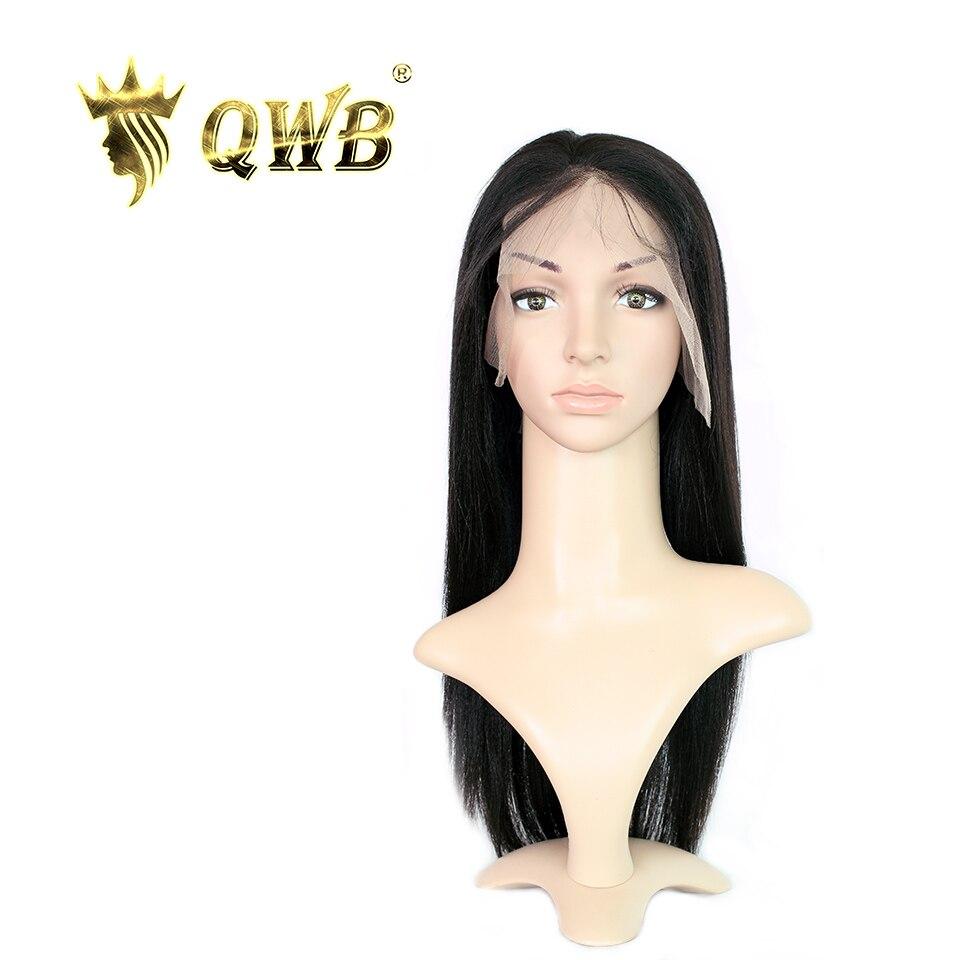 QUEEN WEAVE BEAUTY Free Shipping Light Yaki Lace Front Human Hair Wigs 12 22 100 Virgin