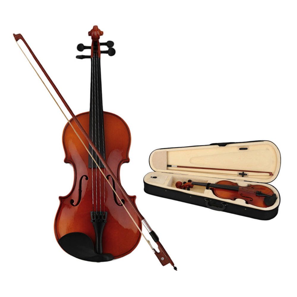 Russia Violin Spruce Solid Wooden 4/4 Lacquer Light Fiddle 4-String Instrument Maple Solid Wooden Both Beginner Professional Use handmade new solid maple wood brown acoustic violin violino 4 4 electric violin case bow included