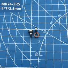купить Free shipping 10 pcs/lot High quality MR74RS double orange rubber sealed miniature deep groove ball bearing MR74-2RS  4*7*2.5 mm по цене 565.34 рублей