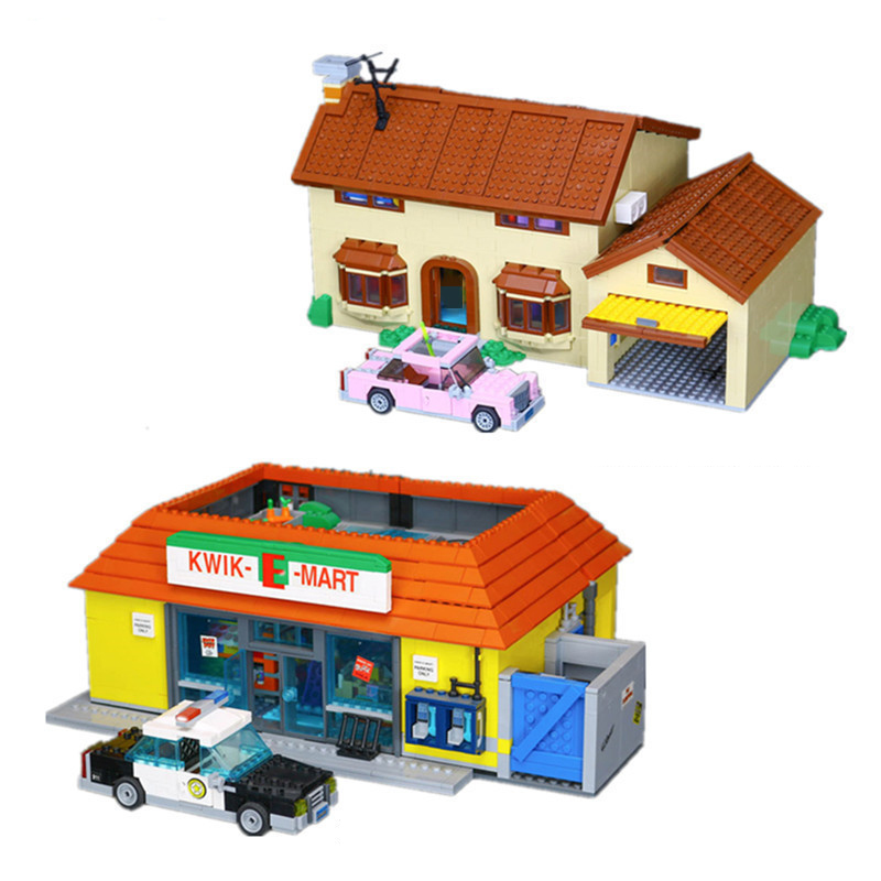 Lepin 16004 16005 The Simpsons House KWIK-E-MART Sets Compatible 71006 71016 Model Building Kits Blocks Bricks Toys For Children