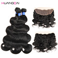 Malaysian Hair Malaysian Body Wave 3 Bundles With Closure Unprocessed Human Weave Hair With 13*4 Lace Frontal Closures