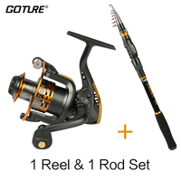 Goture Rod Combo SWORD Telescopic Fishing Rod 2.1-3.6M+GT3000S Spinning Reel 6BB for Summer Fishing Tackle Best Price Coil Rod