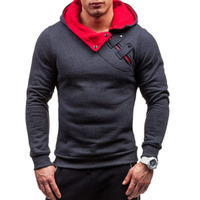 Brand 2017 Hoodie Soild Warmth New Stitching Hoodies Men Fashion Tracksuit Male Sweatshirt Off White Hoody