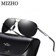 MIZHO HD UV High Quality Sun glasses Polarized UV400 With Case,Stainless Steel BOX Strong Durable Sunglasses Men Polaroid Pilott