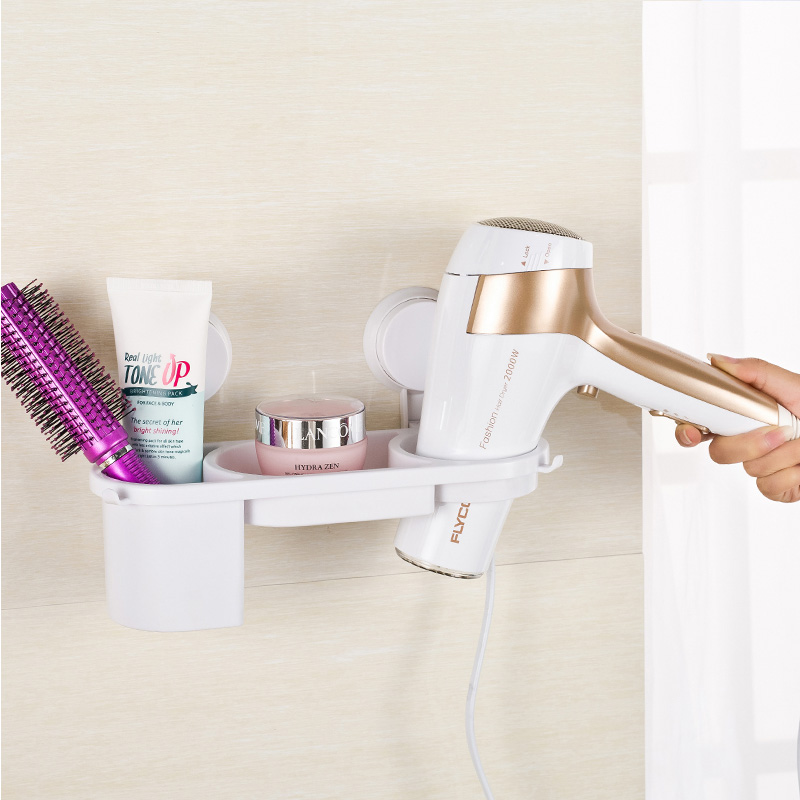 Strong sucker Punch Bathrooms Hair Dryer Shelf Dryer Shelf Bathroom Storage Rack