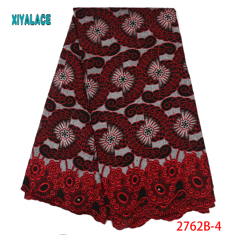African Lace Fabric Swiss Voile With Stones Swiss Cotton Lace 2019 High Quality Lace Fabrics Men And Women For Wedding YA2762B-7