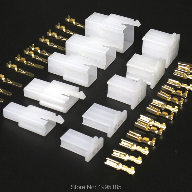10 Set 2.8mm Connector 2P 3P 4P 6P 9P 2pin Electrical 2.8 Connector Kits Male Female Socket Plug For Motorcycle Motorbike Car