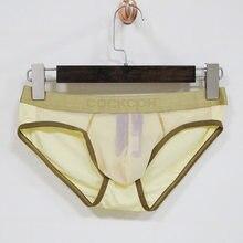 69762834d COCKCON Sexy Gay Underwear Men Briefs Shorts homme Breathable Low-waist  Panties Man Transparent Mesh Gauze Lingerie cueca M-XXL