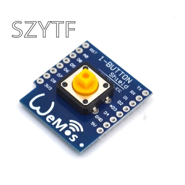 US $0 76 5% OFF|1 Button Shield for WeMos D1 mini button Smart ESP8266 WiFi  Module DIY kit for ESP8266 WIFI parts-in Integrated Circuits from