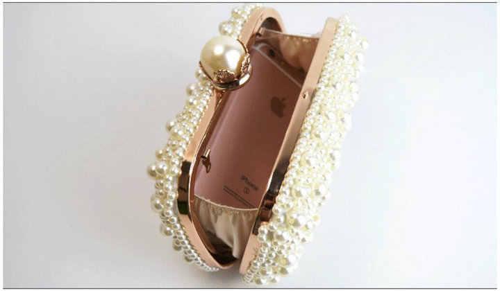 979292f9ed7 ... Rdywbu Best New Noble Female Pearl Clutch Bags Purse 2018 Fashion  Beaded Evening Bag Women Handbag