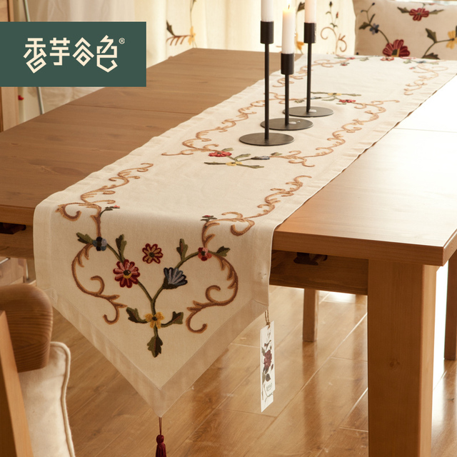 Sale handmade embroidery cotton table runner leaf rustic zara women sale handmade embroidery cotton table runner leaf rustic zara women home party wedding christmas decoration junglespirit Choice Image