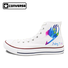 Converse All Star Women Men Shoes Anime Galaxy Fairy Tail Design Hand Painted Canvas Sneakers Boys
