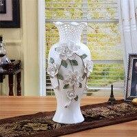 Керамический большой белый современные цветы ваза home decor большие напольные вазы для Свадебные украшения керамики фарфоровые статуэтки