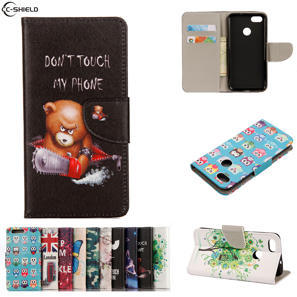 Flip Case For Huawei P9 lite mini P9lite mini Case Mobile Phone Leather Cover For Huawei SLA-L22 SLA-L02 SLA L22 L02 bag wallet