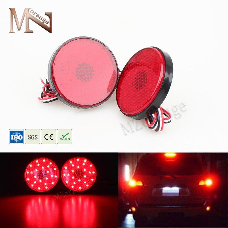 MZORANGE 2008 2009 2010 SMD Red Lens 21 LED Rear Bumper Reflector Tail Stop Light for Toyota Highlander Sequoia ZRR70 Noah Voxy