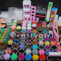 120ml Acrylic Nail Liquid Powder Glitter Deco Nail Art Tips rhinestone Cutter Kit Tool Kit manicure Set  set for dropshipping