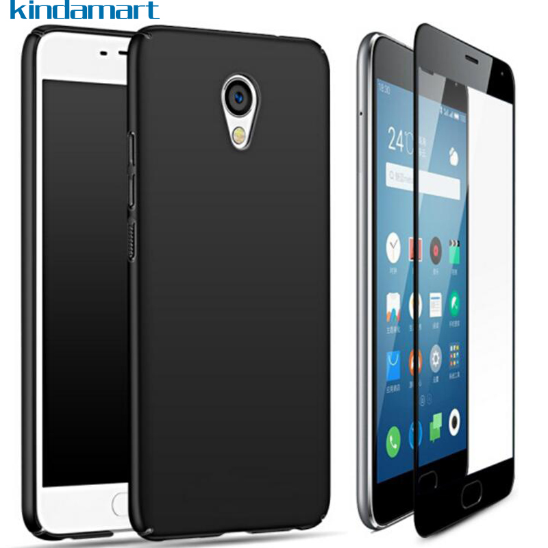 360 Full Protective on for Meizu M5C Case Cover+Tempered Glass, Ultra Thin Matte Hard Case for Meizu M5C M 5C Global M710H Case