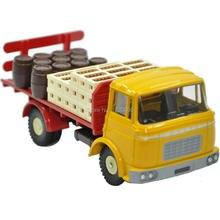 DINKY TOYS Atlas Alloy 1:43 588 Yellow TRUCK GAK BERLIET Camion Plateau Brasseur Diecast Car model & Toys Model