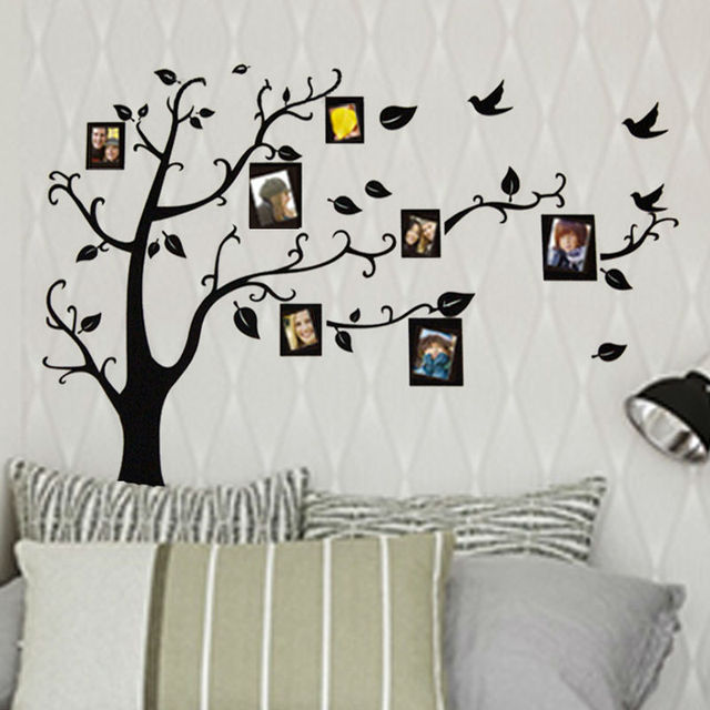Hot Photo Frame Family Tree Wall Stickers Kids Wall Arts Home Wedding  Decorations Living Room Decals Part 67
