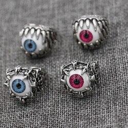 Anel de aço inoxidável 316l, legal, modelo de dedo homem com olhos