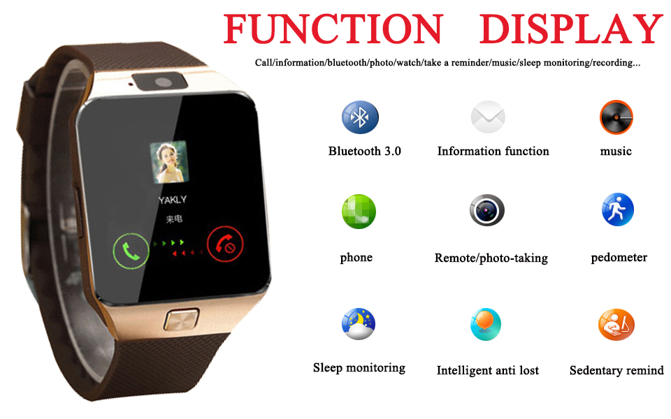 smartwatch android 7 phone watches bluetooth