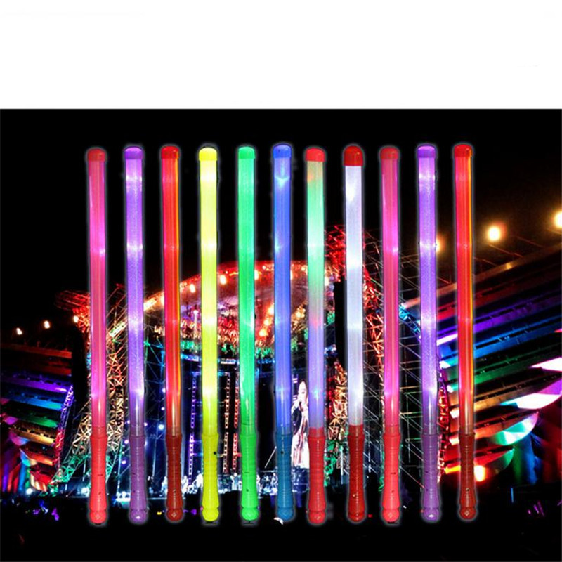 glow sticks led toys 48cm legth Led Stick Party Festival Decoration Best Gift Luminous sticks colorful