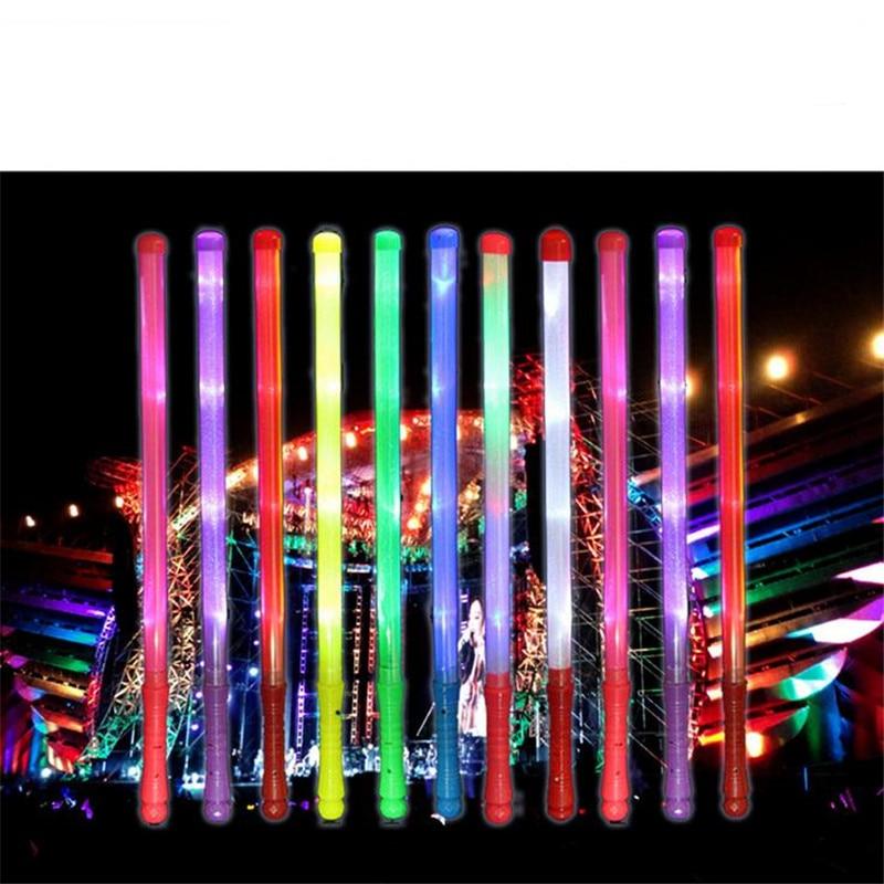 Tongkat cahaya dipimpin mainan, 48 cm legth dipimpin tongkat, Festival pesta dekorasi, Hadiah terbaik, Bercahaya tongkat neon, Warna-warni berkedip mainan