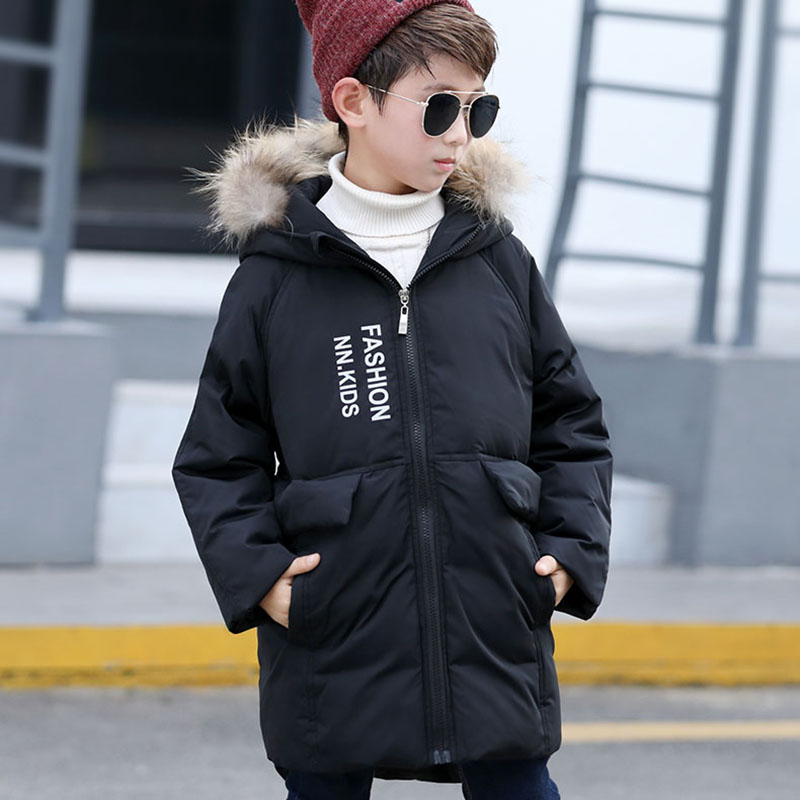 Boys winter jackets 80% duck down coat long sleeve warm boys fur parka toddler jackets for 5 6 7 8 9 10 11 12 13 years boys winter jackets 80