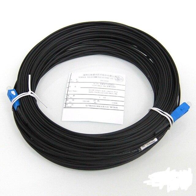 Бесплатная Доставка 50 м SC FTTH-Fiber Optic Ответвительный Кабель Patch Cord SC Simplex Одномодовый SC-SC 50 М SM Fiber Optic Перемычки