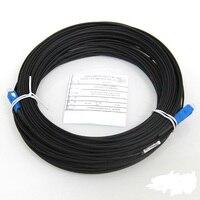 Бесплатная доставка 50 м FTTH кабель падения волоконно-оптический патч-корд SC to SC, симплекс одномодовый SC-SC 50 метров SM Оптическое волокно гибки...