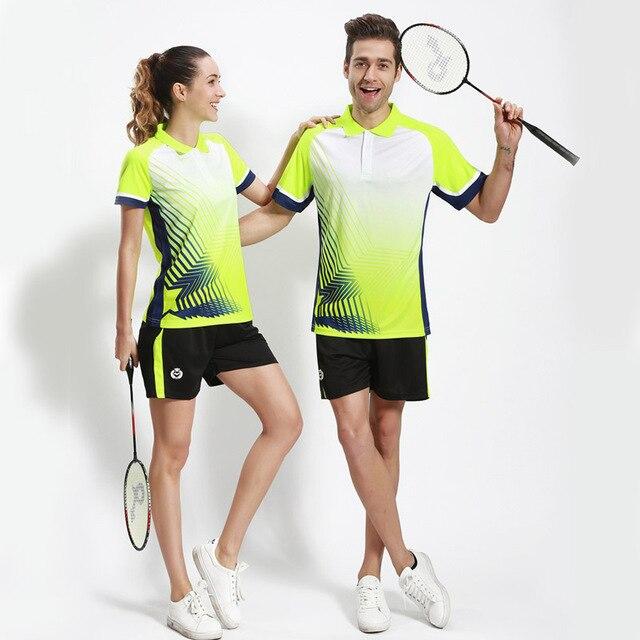 Badminton Men/Women\u0027s Sports Clothes Table Tennis 1 Set Sports Women\u0027s  Sportswear Game Female Table Tennis Badminton Sets shirt