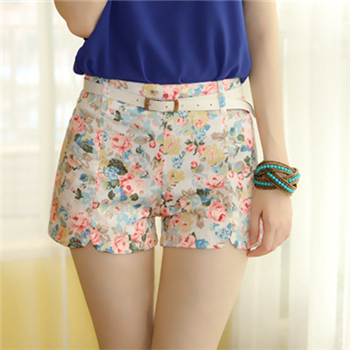 Online Get Cheap Flower White High Waisted Shorts -Aliexpress.com ...