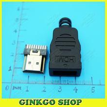 15 компл./лот HDMI мужской Джек 19pin Разъем HDMI разъем 19 P Пайка Тип 19-контактный HDMI Штекер