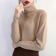 Otoño Invierno suéter de cuello alto para mujer 2018 grueso cálido pulóver  y suéter para mujer coreano suave manga larga Jumper . 85d6fe7bf9d3
