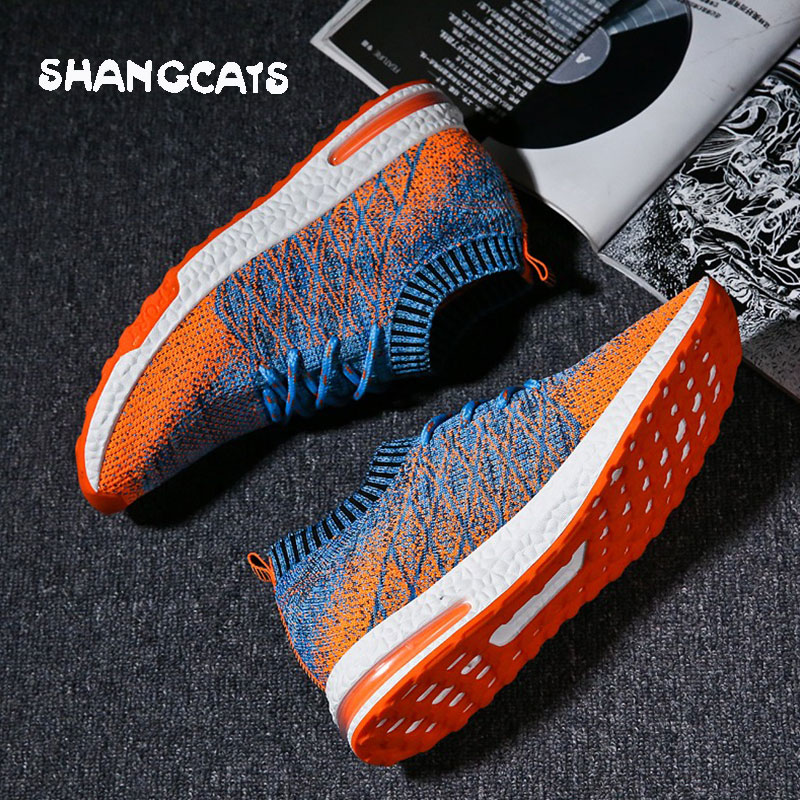 ec88d2f9f67f Grey Light Orange Chaussures Style Mince Casual Sneaker Hombre De Tenis  Pour Zapatos Grey Homme Musculino ...