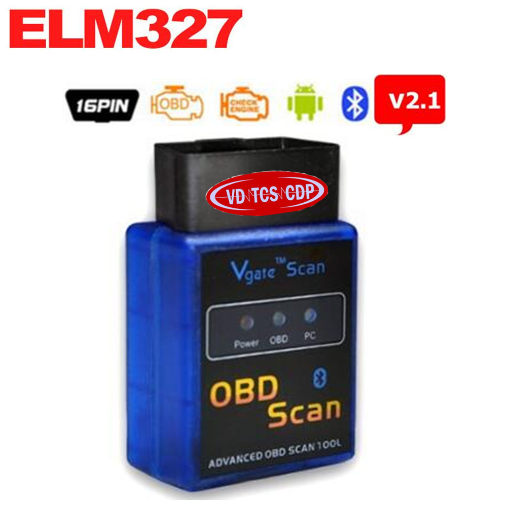 10PCS MINI <font><b>ELM327</b></font> V2.1 <font><b>Bluetooth</b></font> Vgate Scan ELM 327 OBDII OBD-II OBD2 Protocols Auto Diagnostic Scanner Tool MINI327 OBD Scan image