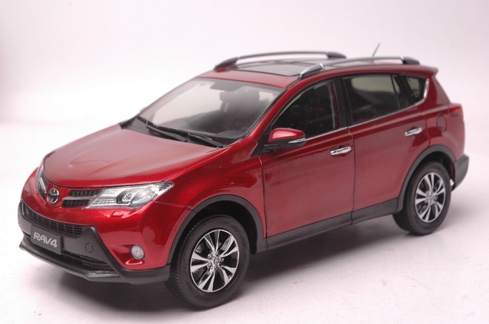 1:18 Diecast Model for Toyota RAV4 2013 Red SUV Alloy Toy Car Collection universal pu leather car seat covers for toyota corolla camry rav4 auris prius yalis avensis suv auto accessories car sticks
