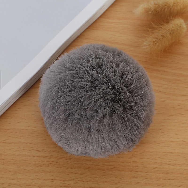 8 CENTÍMETROS Faux Fur PomPom DIY Saco Bulbo Capilar Bola Pom pom Coelho KeyChain Chaveiro Pingente para Jóias DIY acessórios do presente