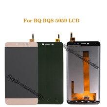 """5.0 """"ل BQ BQS 5059 سترايك الطاقة LCD + شاشة اللمس الرقمية تحويل استبدال ل BQS 5059 BQ 5059 شاشة الكريستال السائل إصلاح أجزاء"""