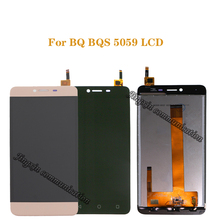 """5.0 """"per BQ BQS 5059 Sciopero Power LCD + convertitore digitale dello schermo di tocco di ricambio per BQS 5059 BQ 5059 display LCD parti di riparazione"""