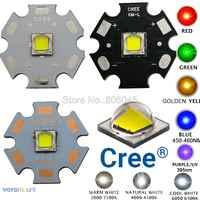 CREE XML2 LED XM-L2 de T6 10 W blanco Neutral blanco cálido linterna Chip 5050 rojo verde azul UV amarillo emisor LED de alta potencia