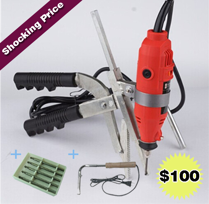 Shocking Price! Packing Sale for Manual Metal Grooving Machine + Hard Alloy Rotating Knife File + New Electric Soldering Iron d40mm setscrew hard alloy flex metal bellow coupling