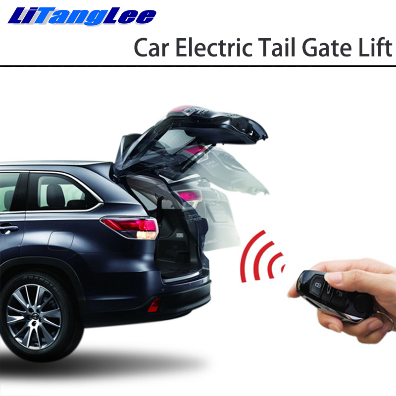 LiTangLee Car Electric Tail Gate Lift Tailgate Assist System For Toyota Fortuner SW4 AN150 AN160 2015~2019 Remote Control Trunk