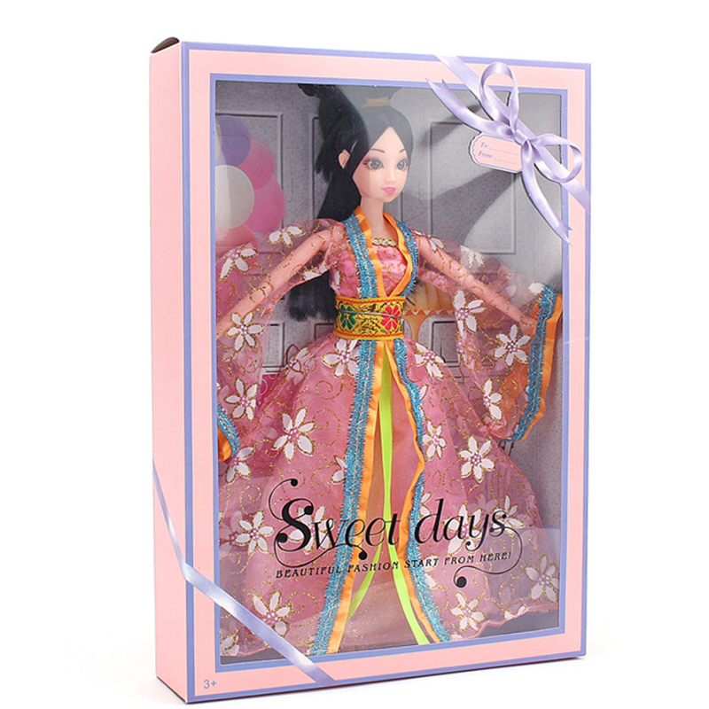 1PCS 12 Moveable Joints Costume Dolls For Childrens Birthday Gift For Girl, 30 Cm Chinese Traditional Doll Toys Decorative Doll