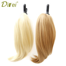 DIFEI 8 Color Straight High Temperature Synthetic Hair Pony Tail Hairpiece Black Gray Clip In Extensions Claw Ponytail