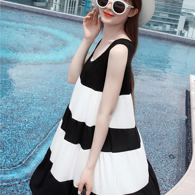 fcd3d4883df8c Maxi Maternity Breastfeeding Nursing Dresses Black White Pregnancy Wear  Breast Feeding Sundress Clothing Pregnant Mother Clothes