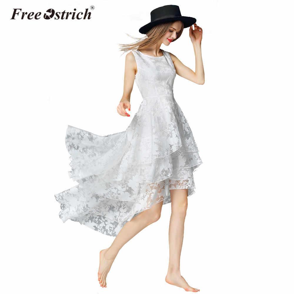 ฟรีนกกระจอกเทศชุดผู้หญิงฤดูร้อน Elegant ปาร์ตี้สีขาวยาว Vestidos De Fiesta L1325