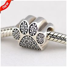 925 Sterling Silver Jewelry Paw With For Women Original Fashion Charms Beads Fits Pandora Bracelets(China)